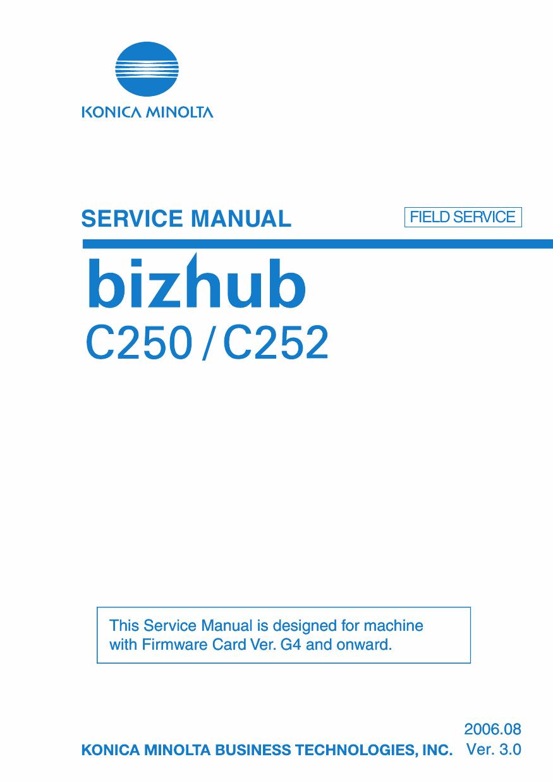 Konica-Minolta bizhub C250 C252 FIELD-SERVICE Service Manual-1